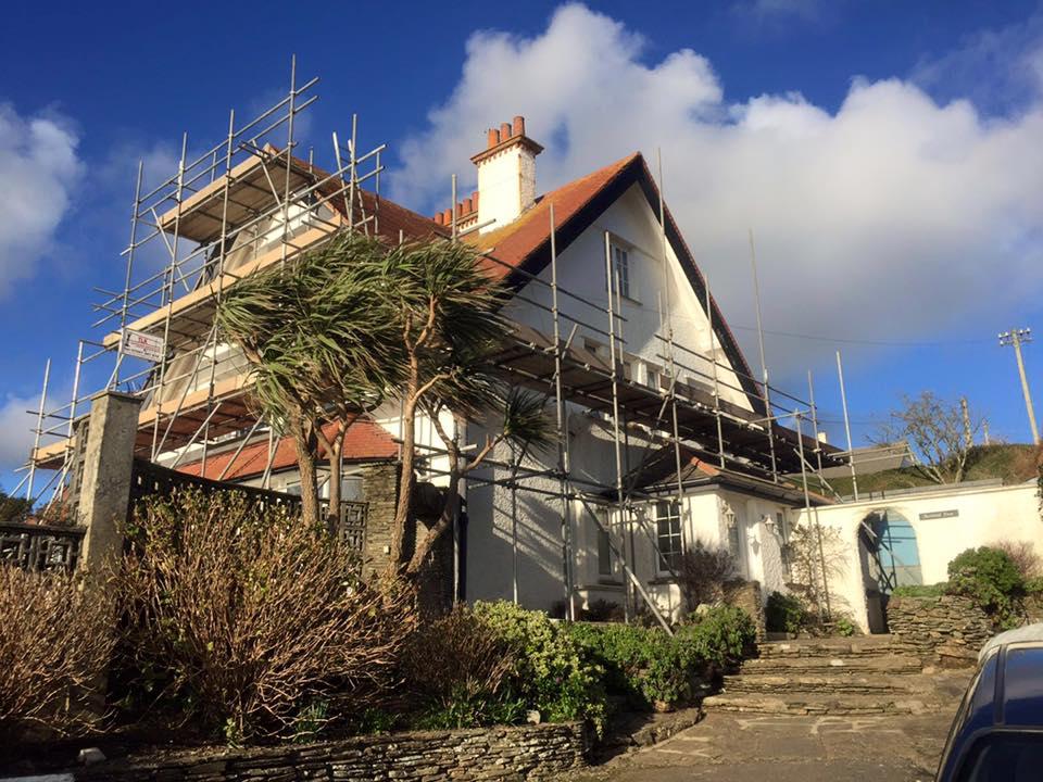 Residential Scaffolding Cornwall - TLK Scaffolding Services Ltd